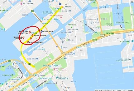 豊洲市場周辺地図