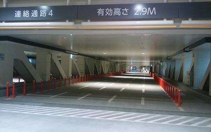 豊洲新市場トンネル通路
